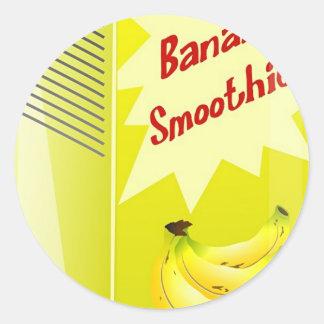 Banana Smoothie Classic Round Sticker