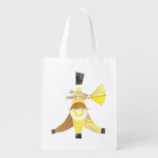 Banana Split No Background Reusable Bag Reusable Grocery Bag