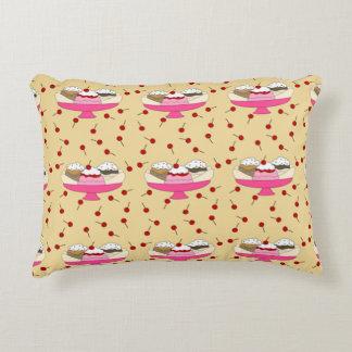 Banana Split Print Decorative Pillow