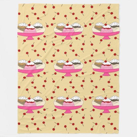 Banana Split Print Fleece Blanket
