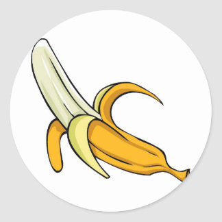 Banana Split Round Sticker