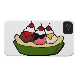 Banana Split Sweet Ice Cream Treat iPhone 4 Covers