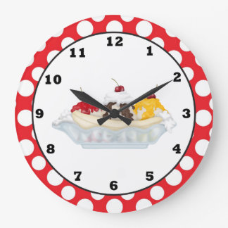 Banana Split sweet treat wall clock