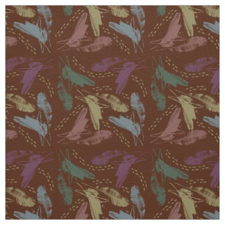banana squirrel-brown fabric