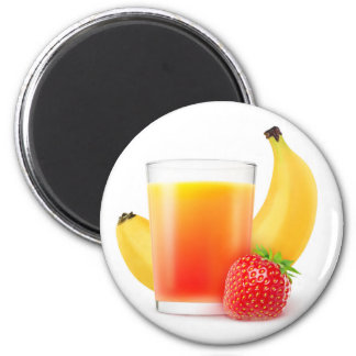 Banana strawberry shake magnet