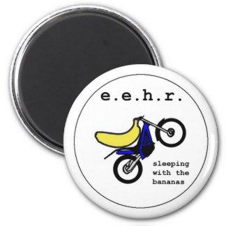 Banana Stunt Motorcyclist 2 Inch Round Magnet