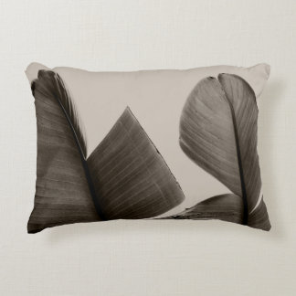 Banana Tree Leaves in Sepia Decorative Pillow
