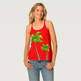 Banana Tree  Red Women's Racerback Tank Top