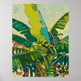 Banana Trees, New Orleans Art Poster