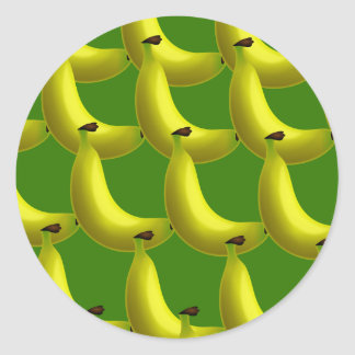 Banana Wallpaper Classic Round Sticker