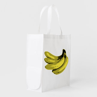 Banana Yellow Graphic Market Totes