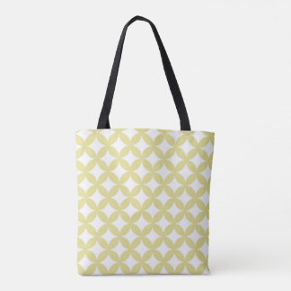 Banana yellow pattern tote bag