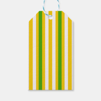 Banana Yellow Stripe Gift Tags