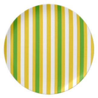 Banana Yellow Stripe Plate