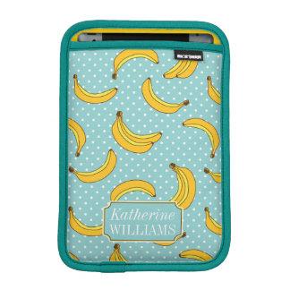 Bananas And Polk Dots | Add Your Name iPad Mini Sleeves