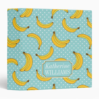Bananas And Polk Dots | Add Your Name Vinyl Binder