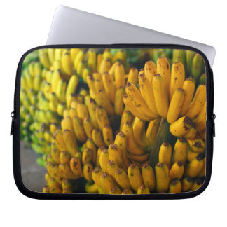 Bananas at night laptop sleeve