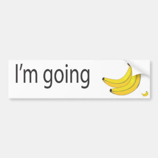 bananas bumper sticker