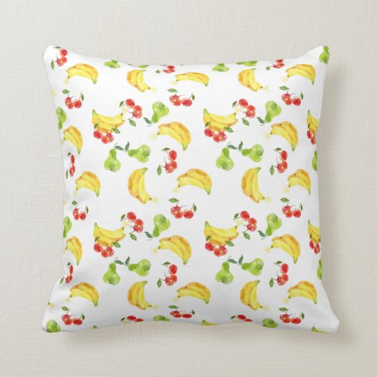 Bananas, Cherries, & Pears Pillow