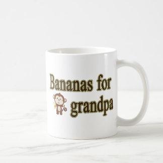 Bananas for grandpa classic white coffee mug