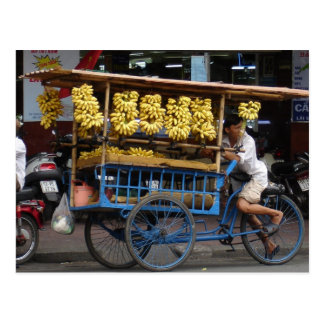 Bananas for sale postcard