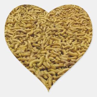 Bananas Heart Sticker