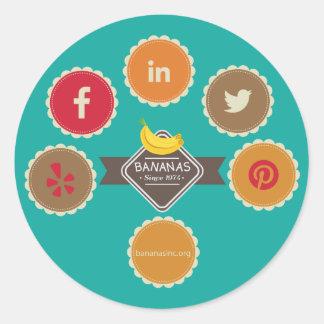 BANANAS Icons Sticker Circle
