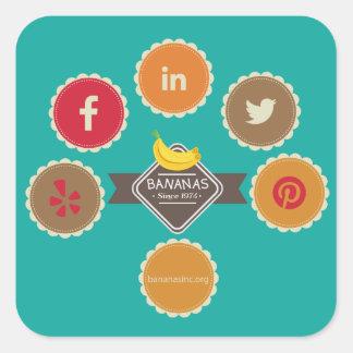 BANANAS Icons Sticker Square