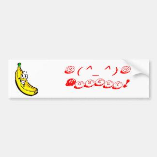 bananas, @(^_^)@ Monkey! - Customized Bumper Sticker