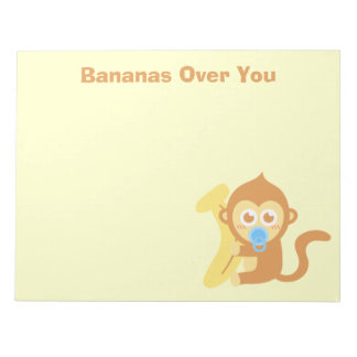 Bananas over you notepad