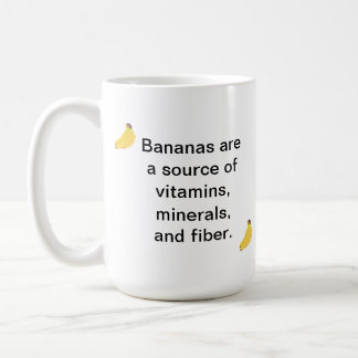 Bananas Source Vitamins Minerals Fiber Mugs