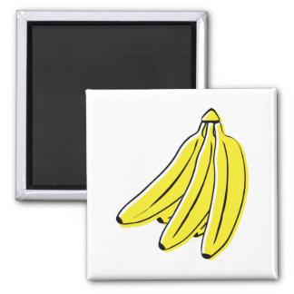Bananas Square Magnet
