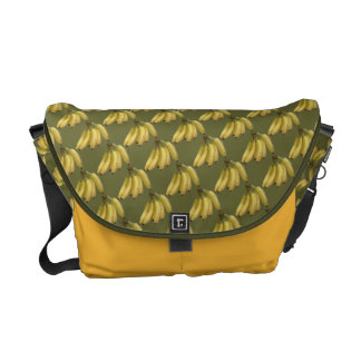 bananas yellow pattern commuter bag
