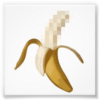 Banane épluchée censurée sale  tirage photo