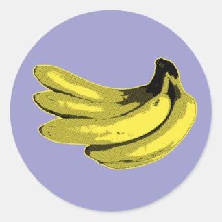 Banane graphique jaune autocollants