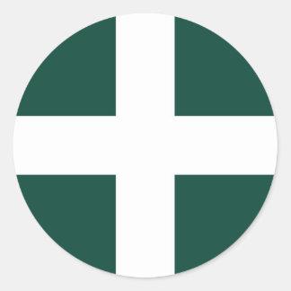 banat region flag classic round sticker