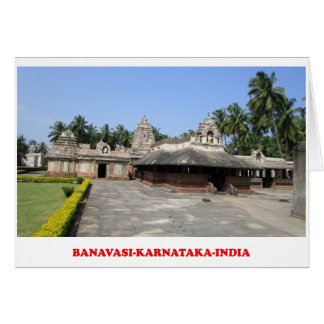 banavasi karnataka india tourist place card