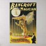 Bancroft ~ The Magician Vintage Magic Act Poster