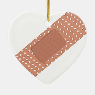 Band Aid Ceramic Ornament