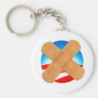 Band-aid No to Obamascare Keychain