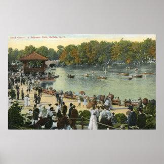 Band Concert, Delaware Park, Buffalo 1911 Vintage Poster