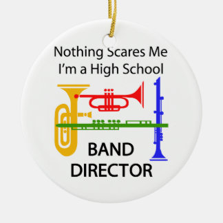 Band Director Round Ceramic Ornament