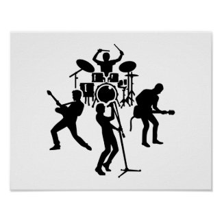 Band drummer guitarist singer posters