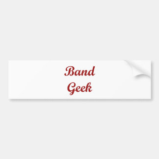 Band Geek Bumper Sticker