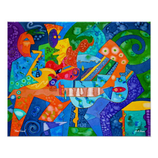 """""""Band Groove"""" Original painting by R.A.Brown© Poster"""