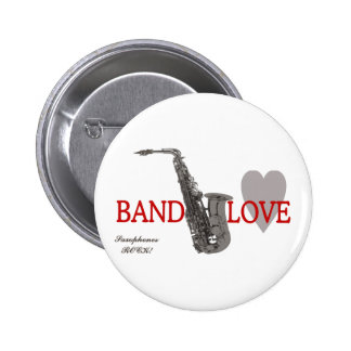 Band/Love/Saxophones Rock Button