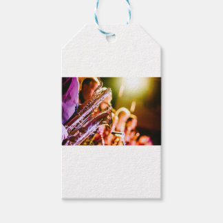 Band Music Musical Instruments Saxophones Horns Gift Tags
