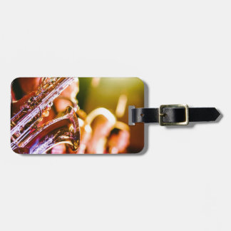 Band Music Musical Instruments Saxophones Horns Luggage Tag