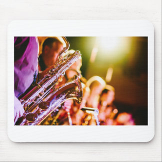 Band Music Musical Instruments Saxophones Horns Mouse Pad