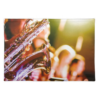 Band Music Musical Instruments Saxophones Horns Placemat